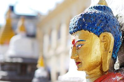 雕像,加德满都,灵性,古董,艺术,水平画幅,无人,古老的,东亚,女神