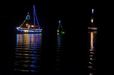 小舰队,夜晚,有帆船,南部港,船,高桅横帆船,路灯,北卡罗来纳,甘蔗糖