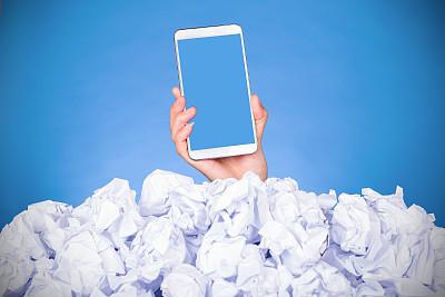 文档,商务,堆,问题,弄皱的,手,掩埋的,sos,混沌,留白