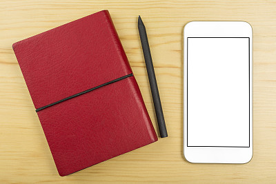 书,手机,桌子,红色,关闭的,个人备忘录,第三代移动通信,4g,留白,智慧