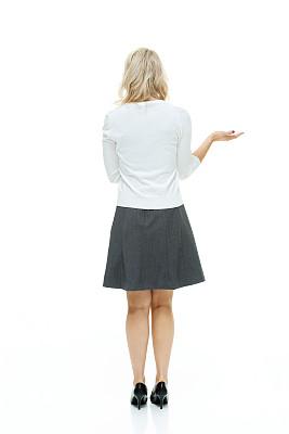 背面视角,女商人,垂直画幅,美,美人,高跟鞋,白人,不看镜头,仅成年人,白领