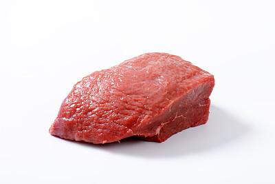 生食,牛肉,嫩里脊排,水平画幅,无人,块状,有机食品,排骨,白色背景,牛排