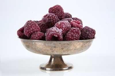 银色,覆盆子,葡萄酒杯,冻结的,草莓冰糕,易腐,奖杯,寒冷,温度,水平画幅