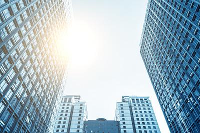 办公大楼,办公室,水平画幅,无人,格子,玻璃,都市风景,现代,商业金融和工业,技术