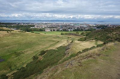 爱丁堡,亚瑟王宝座山,福斯河湾,水平画幅,地形,无人,苏格兰,户外,都市风景,彩色图片