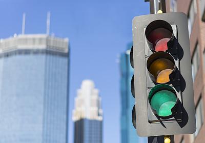 交通,照明设备,绿色,建筑外部,城市,背景,绿灯,明尼亚波理斯,红绿灯,天空