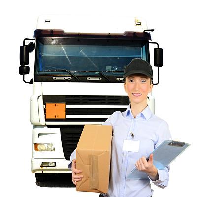 信使,货仓车,货车司机,邮政工作人员,货车运输,正面视角,半身像,陆用车,仅成年人,青年人