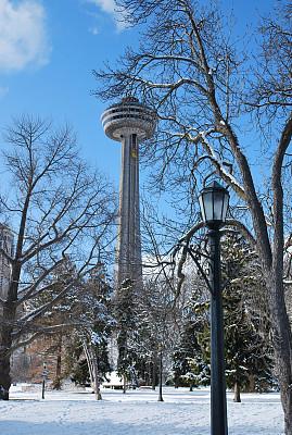 安大略省,加拿大,,尼亚加拉瀑布市,垂直画幅,旅游目的地,冬天,无人,散步道,尼亚加拉瀑布