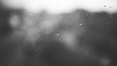 窗户,雨滴,黑白图片,水,水平画幅,纹理效果,无人,玻璃,湿,干净