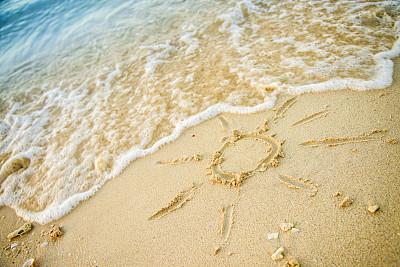 海滩,鸡尾酒,绘画插图,水,灵感,度假胜地,水平画幅,纹理效果,沙子,消息
