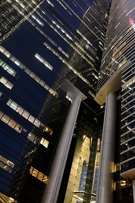 花旗银行,建筑外部,广场,后现代,垂直画幅,天空,外立面,银行,夜晚,无人