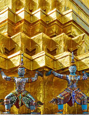 玉佛寺,泰国,曼谷,鲜绿色,垂直画幅,无人,古老的,户外,僧院,过去