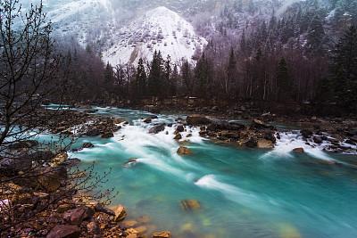 中国,地形,留白,水平画幅,雪,无人,早晨,户外,彩色图片,冬天