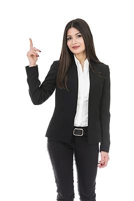 青年人,商品,女商人,正下方视角,垂直画幅,留白,领导能力,销售职位,套装