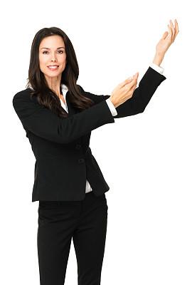 女商人,白色,西服长裤,垂直画幅,注视镜头,销售职位,套装,白人,仅成年人,青年人