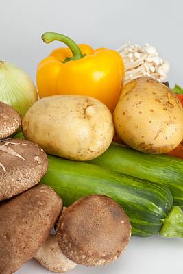 膳食纤维,食品,金针菇,香菇,垂直画幅,褐色,素食,无人,南瓜,生食