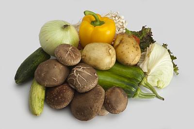食品,金针菇,香菇,褐色,胡萝卜,水平画幅,素食,无人,南瓜,生食