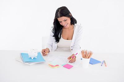 设计师,做计划,女性,商业规划,小猪扑满,仅成年人,想法,青年人,专业人员,公司企业