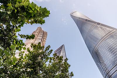 三个物体,巨人,金茂大厦,上海环球金融中心,浦东,国际著名景点,商务,城市生活,现代,著名景点