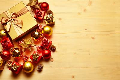 圣诞装饰物,小团体,大于号,礼物,水平画幅,无人,2015年,摄影