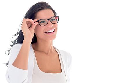 眼镜,女商人,快乐,衣服,近视,美,拉美人和西班牙裔人,边框,水平画幅,美人