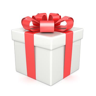 包装纸,无人,新年,白色背景,盒子,生日,背景分离,惊奇,圣诞礼物