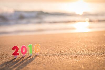 海滩,新年前夕,数字,海洋,数字0,数字6,数字2,留白,字母,新的