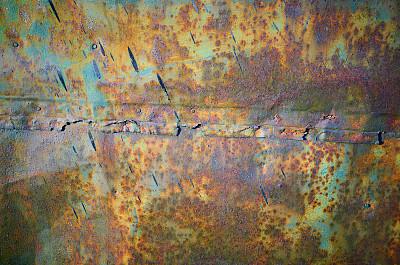 金属,围墙,生锈的,纹理,摇滚乐,绿色,正面视角,平视角,古老的,乡村风格