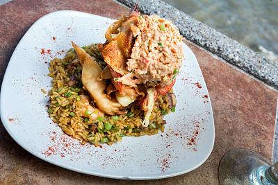 馄饨,开胃品,螃蟹,虾,饺子,玛格丽特,水平画幅,无人,海产,户外