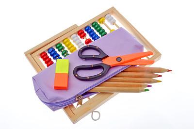 铅笔盒,算盘,水平画幅,纺织品,无人,符号,塑胶,数学,特写,开着的