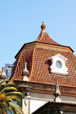 塞维尔,窗户,屋顶,垂直画幅,天空,瓦,建筑,无人,玻璃,安达卢西亚