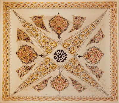 清真寺,几何形状,式样,马略尔卡陶器,泥墙画,穹顶,古董,艺术,水平画幅,墙