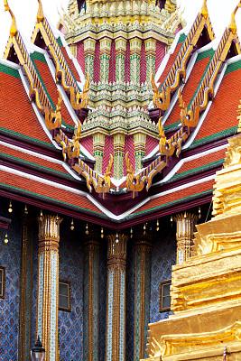 碧隆天神殿,大特写,玉佛寺,垂直画幅,建筑,无人,泰国,曼谷,屋顶,著名景点