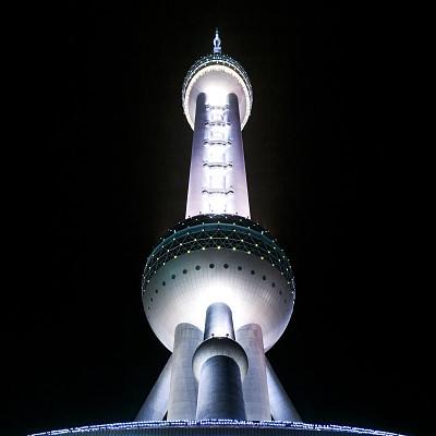 东方明珠塔,浦东,上海,柏林电视塔,纪念碑,夜晚,无人,东亚,户外,都市风景