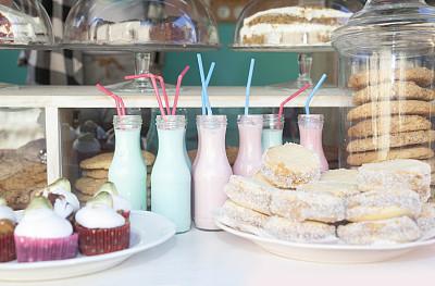 法式甜馅饼,小的,快餐车,糖曲奇,街市,薄烤饼,留白,零售展示,水平画幅,无人