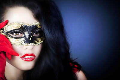 面具,美,注视镜头,自然美,女孩,衣服,神面具,酒店歌舞表演