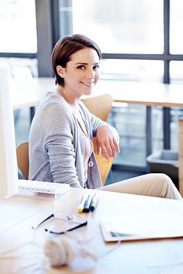 人生大事,部分,舒服,肖像,技术,商业金融和工业,欢乐,仅女人,仅一个女人,办公室