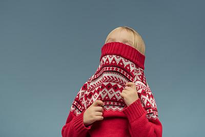毛衣,穿衣服,幽默,水平画幅,连衣裙,人,仅一个女孩,女孩,红色