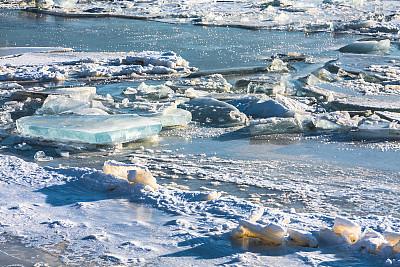 冰川,水平画幅,曝光过度,雪,无人,抽象,户外,冰,冻结的,淡水