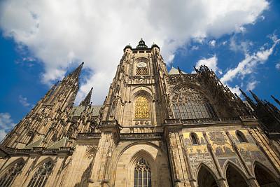 布拉格,穹顶,纪念碑,灵性,艺术,外立面,水平画幅,墙