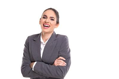 专业人员,女商人,正面视角,留白,领导能力,套装,经理,仅成年人,青年人,白色