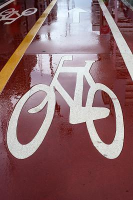 Bike line in S?o Paulo, Brazil