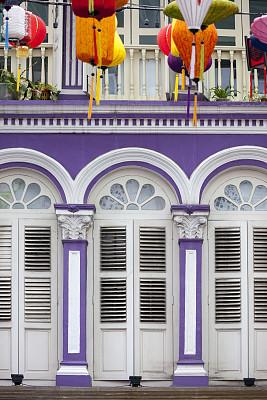 灯笼,前面,新加坡市,遮阳篷,纸灯笼,垂直画幅,无人,百叶窗,商店,商业金融和工业