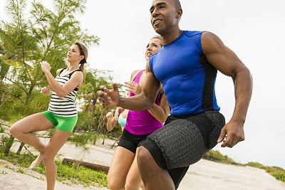 公园,友谊,慢跑,少量人群,水平画幅,人群,健康,户外,决心,白人
