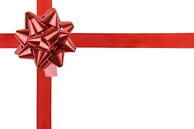 蝴蝶结,缎子,缎带,红色,礼物,水平画幅,式样,无人,新年