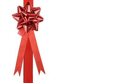 蝴蝶结,红色,艾滋病警示丝带,留白,水平画幅,无人,新年,生日,圣诞礼物