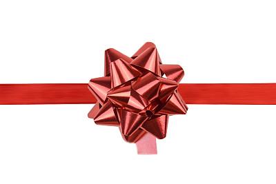 蝴蝶结,红色,礼物,艾滋病警示丝带,留白,水平画幅,无人,新年,生日