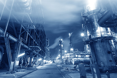 精炼厂,化学制品,炼油厂,燃料罐,化工厂,石油化工厂,过道,柴油,水平画幅,贮藏室