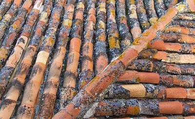赤土陶器,特写,屋顶,意大利,传统,自然美,褐色,水平画幅,高视角,无人