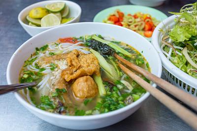 美味,街头食品,泰国,香料,豆汤,鸡肉面条汤,多味酱,越南粉,米粉,面汤